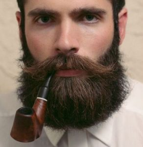 Bandholz Beard with smoking pipe